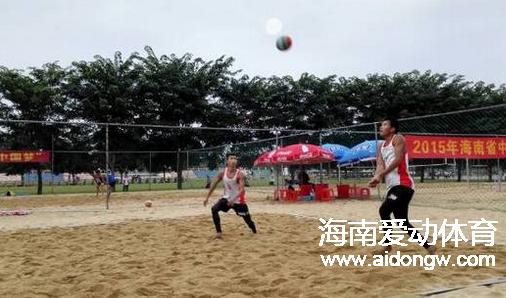 【沙排】2015海南省中学生沙滩排球赛落幕 海口体校囊括男、女两块金牌