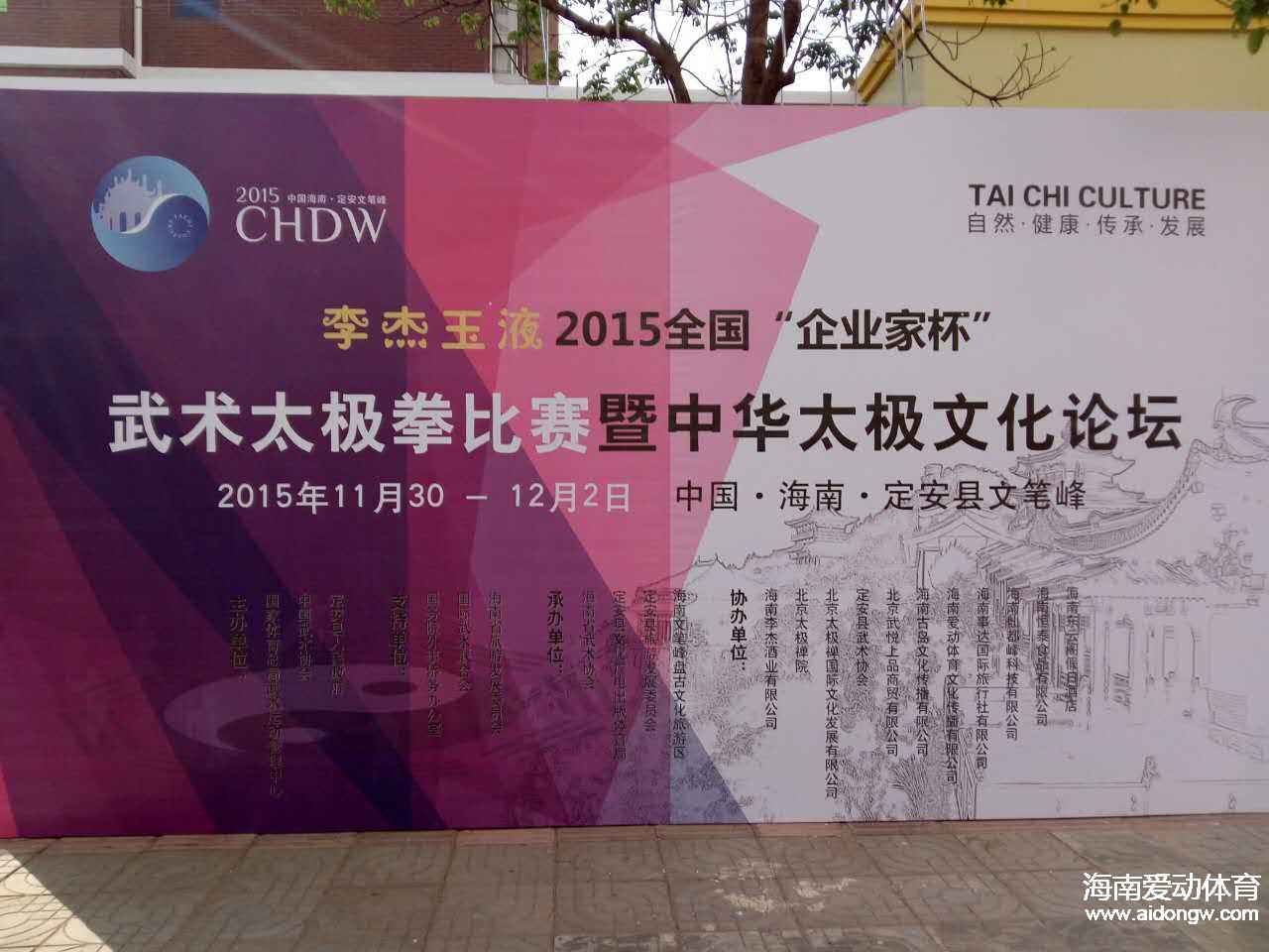 【武术】中华太极文化论坛在海南定安文笔峰举行