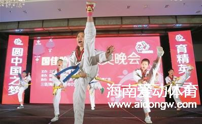 三亚跆拳道协会举行年度颁奖晚会