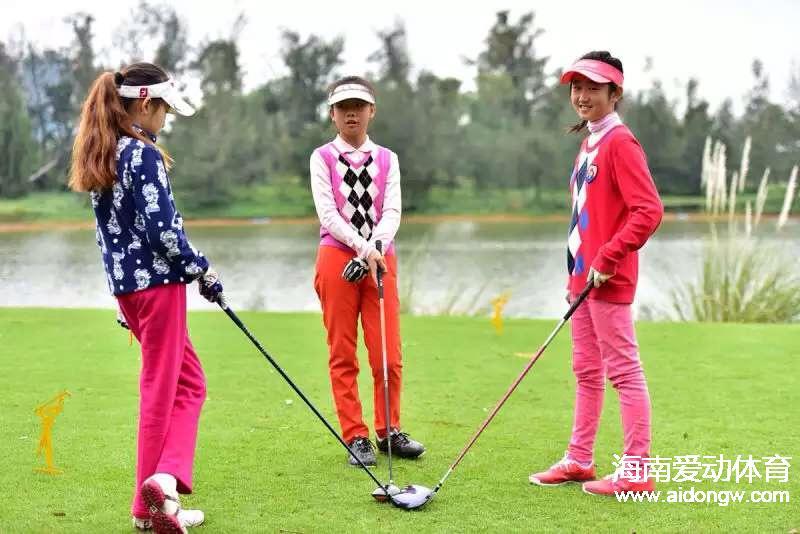 海南省青少年高球赛美视站收杆  陈昊隆和孟霖分获男女A组冠军