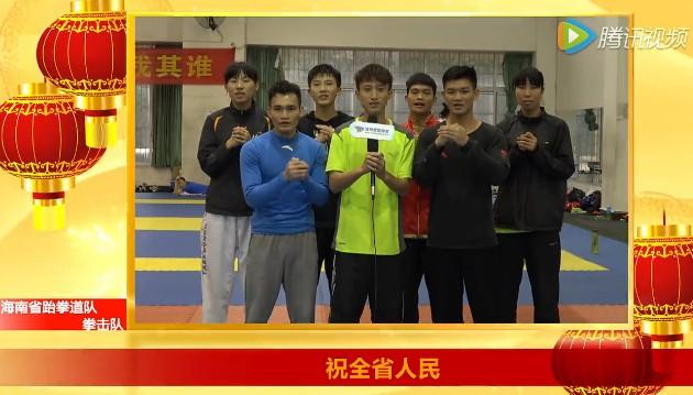 【视频】海南省跆拳道队 拳击队给海南省人民拜年