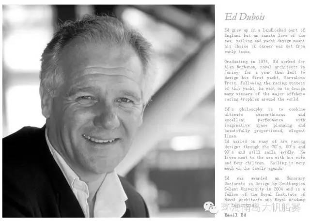 海帆赛官方赛船设计师艾德离世