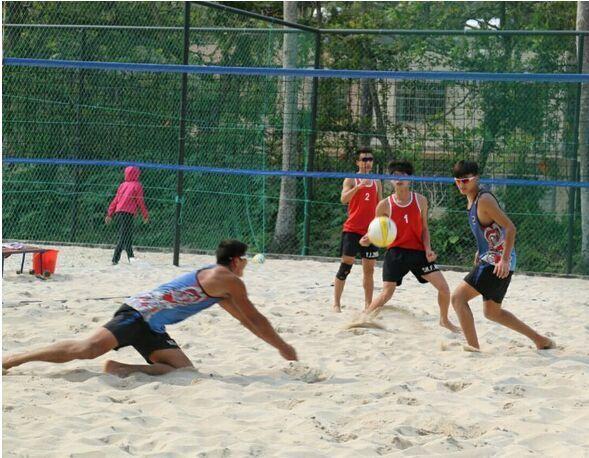 2016年全国青年沙滩排球锦标赛海口男队郑杨俊 王善翡进入冠亚军决赛