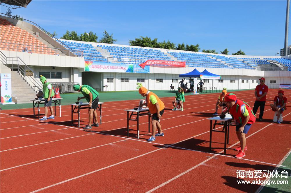 【图集】2016年海南省全民健身运动会精彩瞬间 趣味椰子比拼惊人耐力