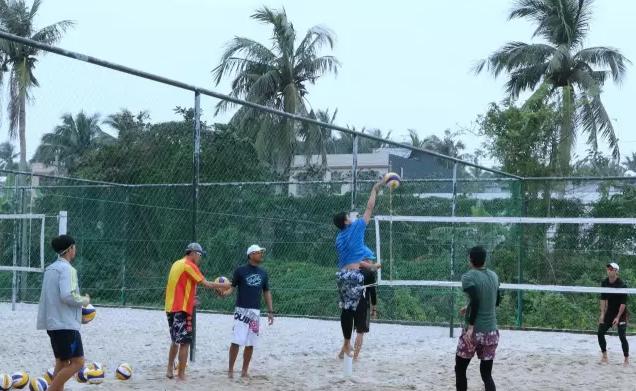 17年全国沙滩排球冬训在海南文昌进行