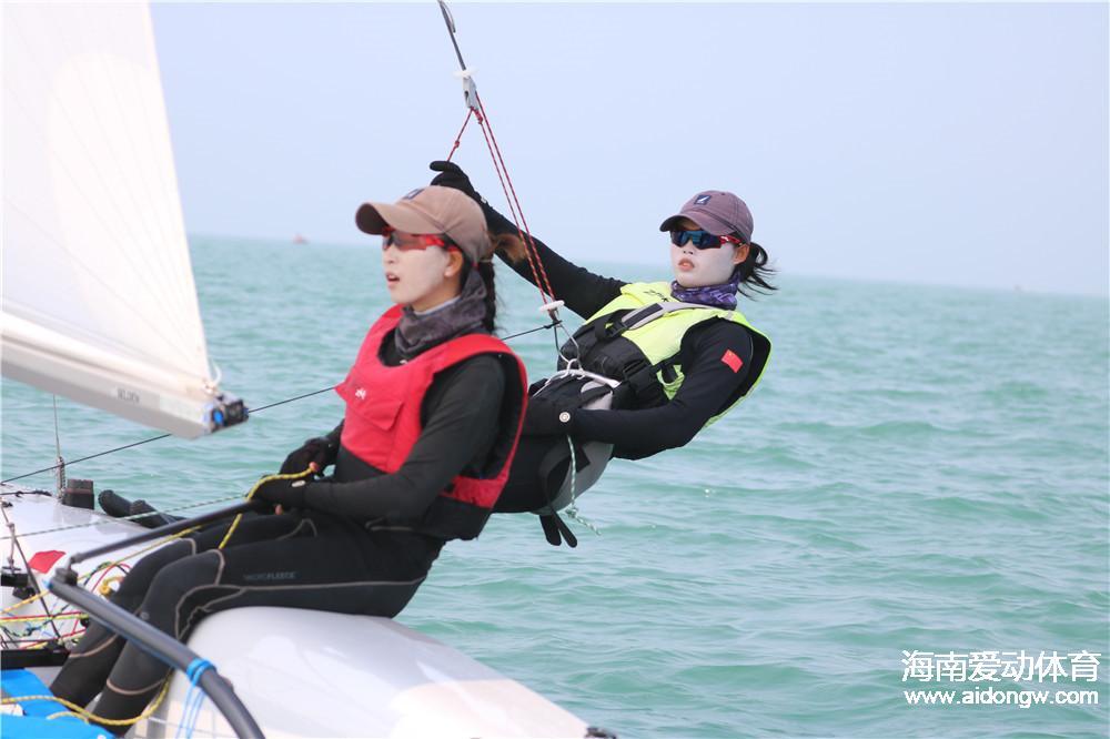 2017全国帆船冠军赛激战澄迈 海南选手备战全运点滴故事