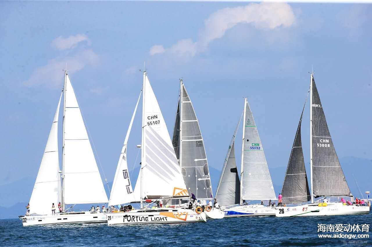 第八届海帆赛东线拉力赛(三亚至万宁)19支船队全部抵港