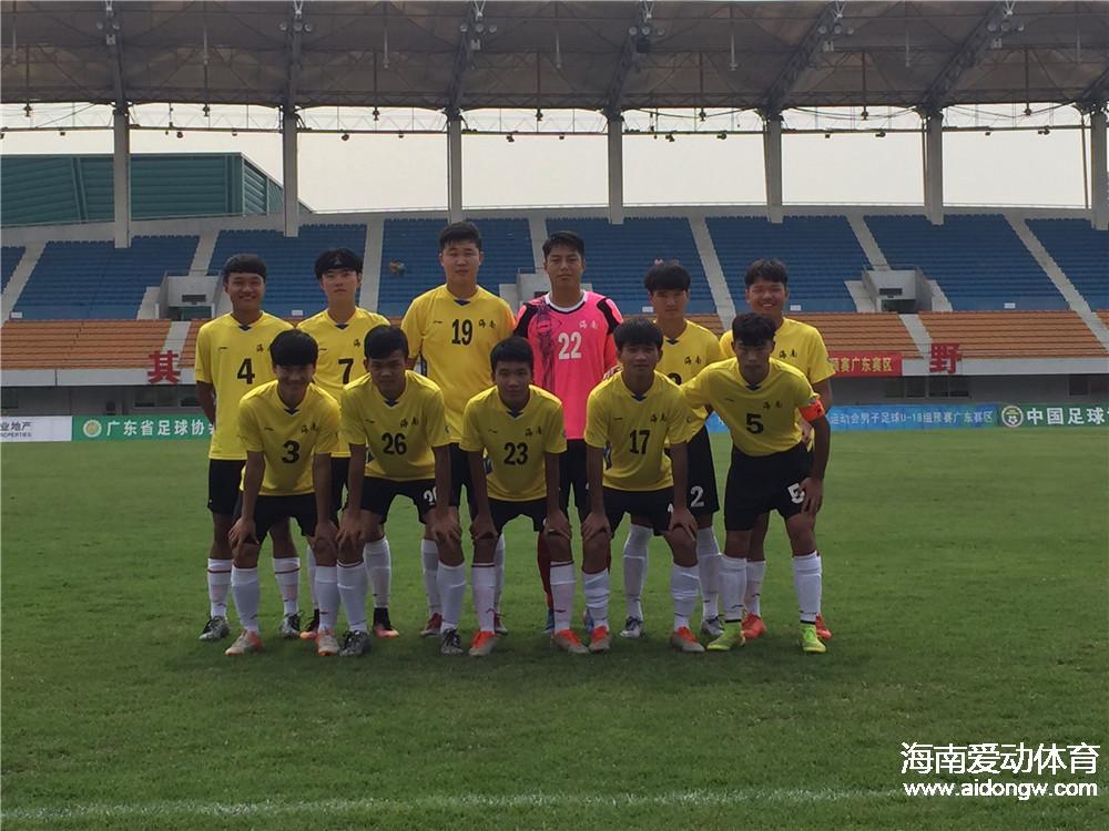 全运会男子足球预选赛:海南不敌陕西遭遇小组两连败
