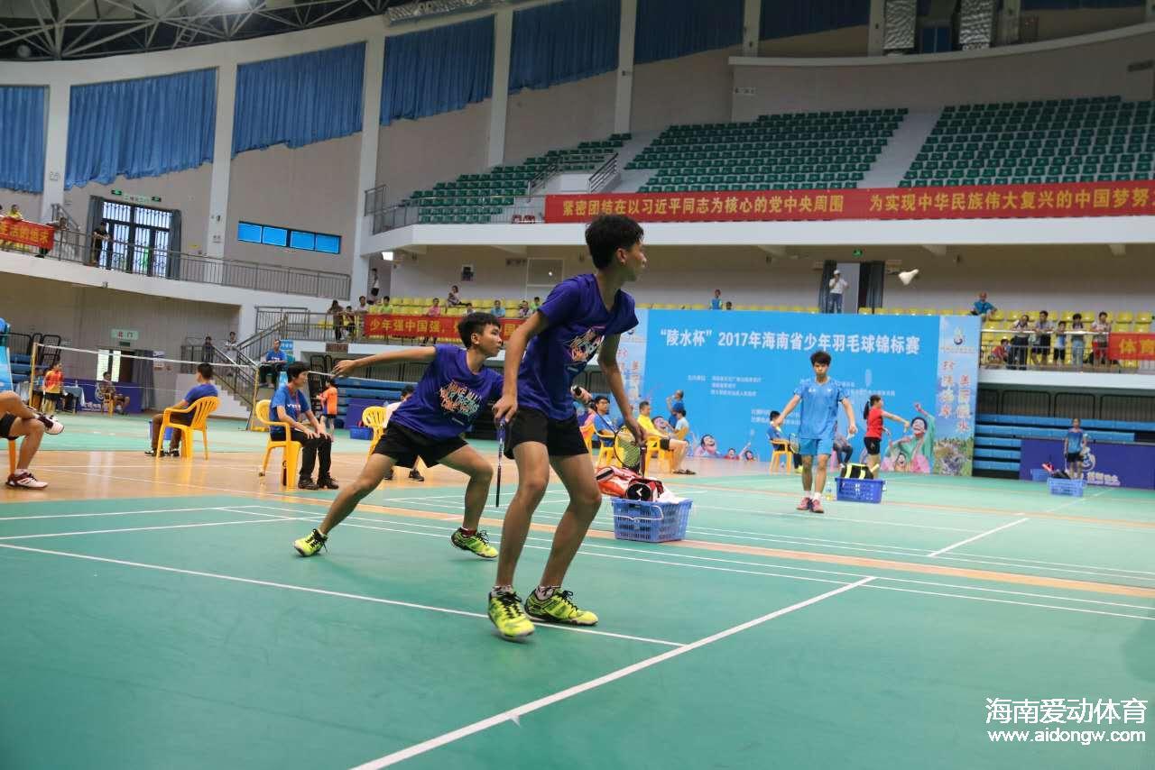 海南省少年羽毛球锦标赛 东道主陵水队获团体赛双冠王