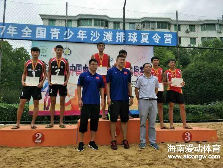 海口琼山中学荣获2017全国中学生沙滩排球锦标赛2冠