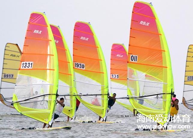 """【全运会】冲上头名!海南帆船RS:X级毕焜大风天""""超车"""" 帆船470级明日开赛"""