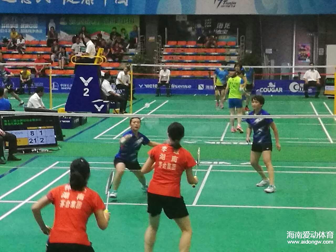 为铜牌而战!群众羽毛球赛小组赛收官 海南两对双打遇强手