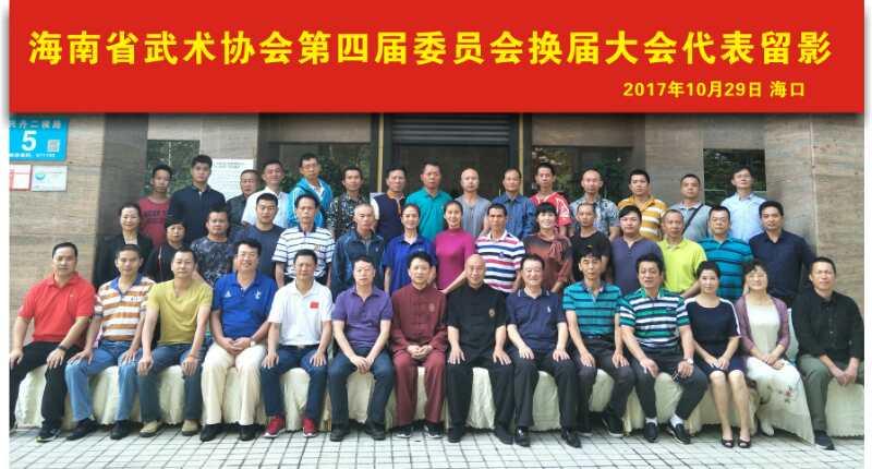 海南省武术协会第四届委员会换届选举 刘怀良继续担任主席