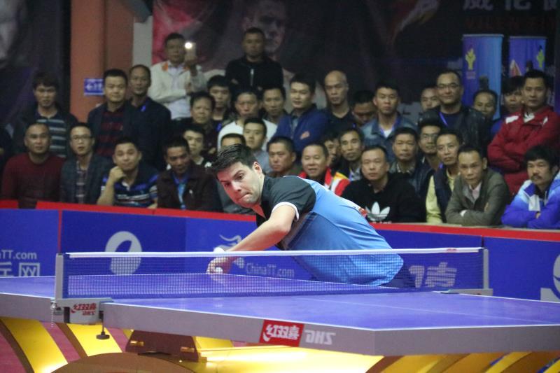 1月20日,海南乾坤2018年世界乒乓球大师擂台大奖赛《第一季》在海口
