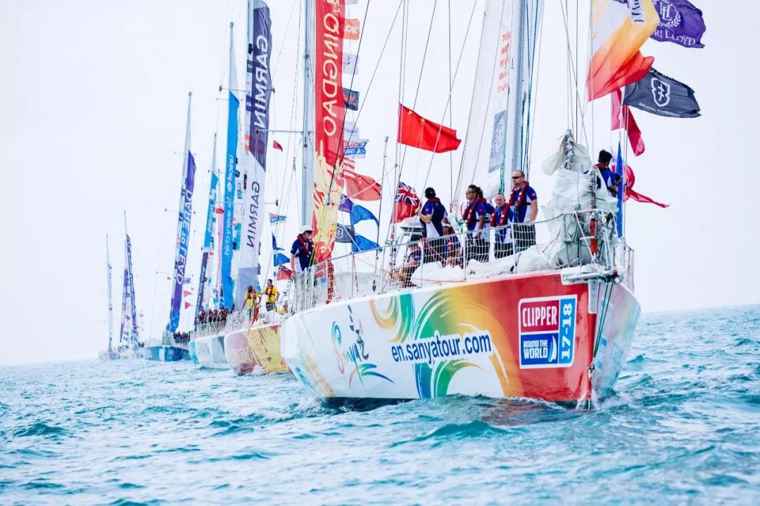11支克利伯船队惜别三亚   今日正式起航前往青岛