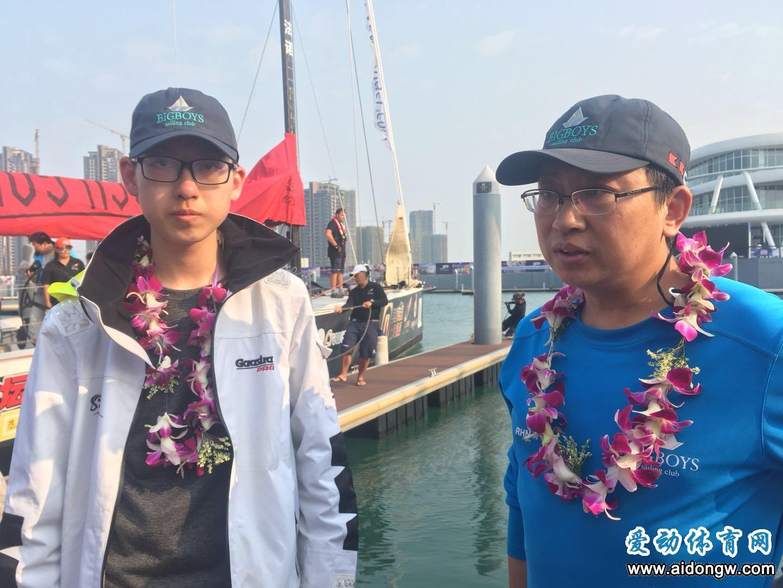 华裔父子搭档征战海帆赛  大海中学会包容与爱