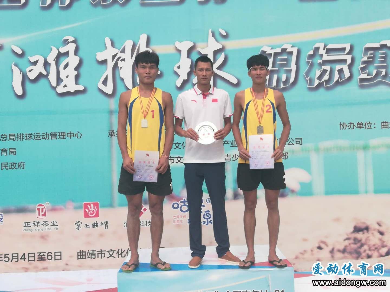 喜讯!海南队翁先武/陈秀峰获全国青年U21沙滩排球锦标赛男子组亚军
