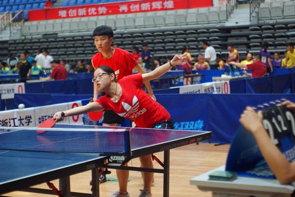 第九届全国大学生阳光体育乒乓球比赛  海南大学队获团体二等奖