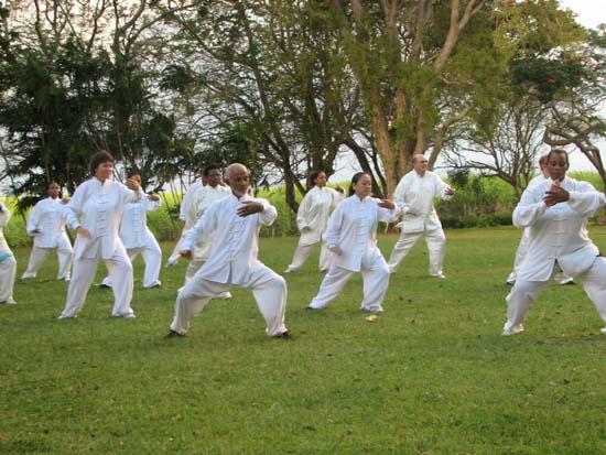 全国老年人太极拳大联动 海南省分会场活动举行