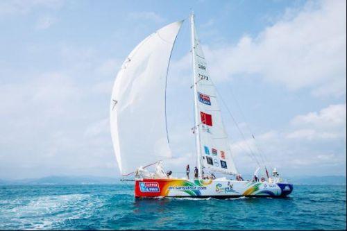 """克利伯环球帆船赛 """"三亚号""""开始第11赛程挑战  三亚名片随帆远播"""