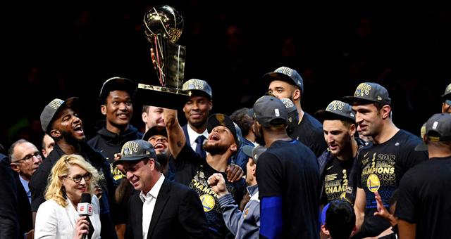 勇士4:0横扫骑士 夺NBA2017/18赛季总冠军