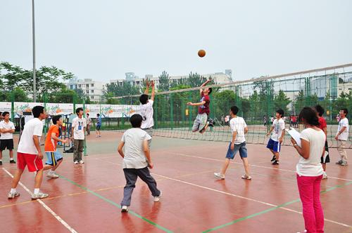 三亚市首届村际排球联赛开赛