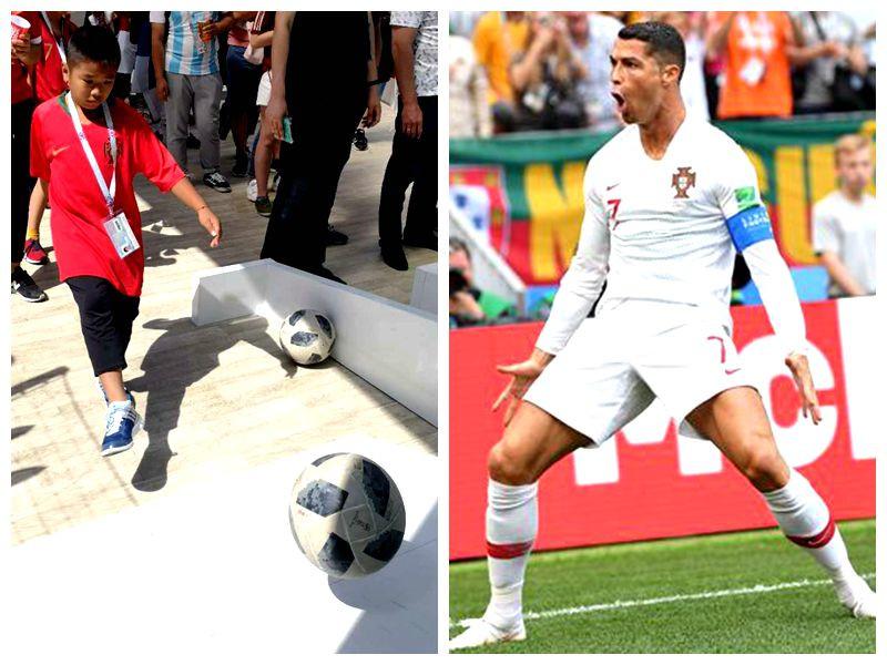 【爱动前方直击】亲眼目睹C罗进球!海南球迷观战世界杯 小球迷秀脚法