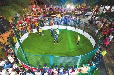 三人制笼式足球赛6月20日三亚开赛