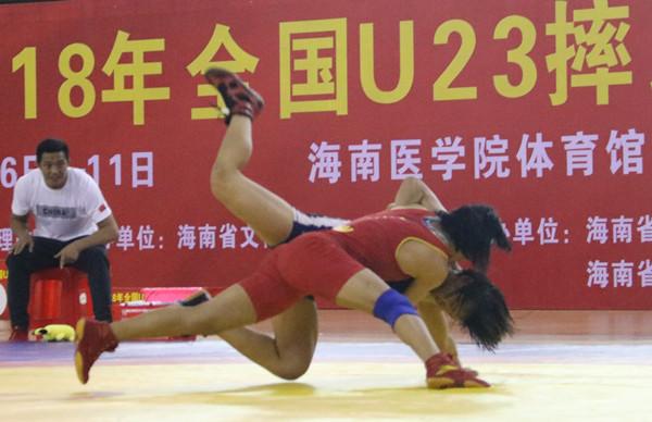 全国U23摔跤大奖赛第三比赛日激战  前三名入选国家队