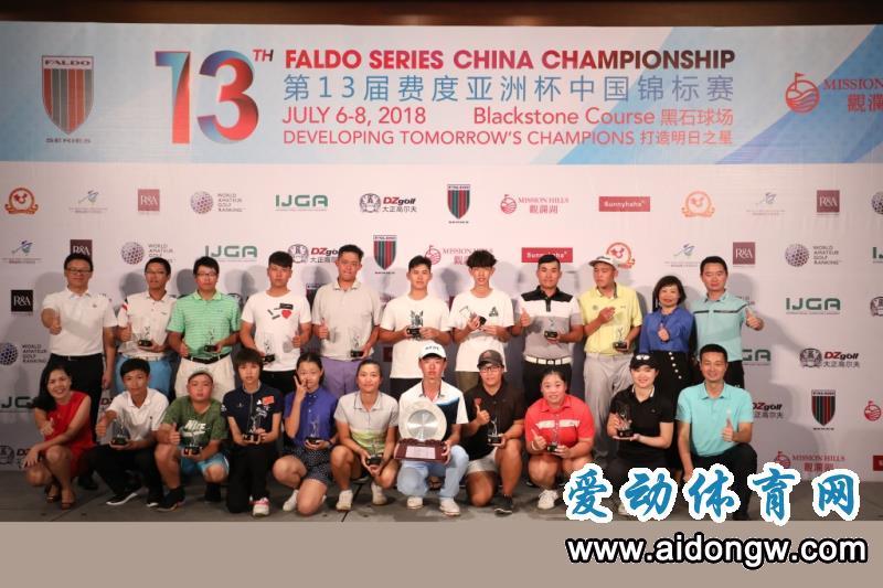 2018费度亚洲杯·中国锦标赛圆满收杆 付烨恺斩获总冠军