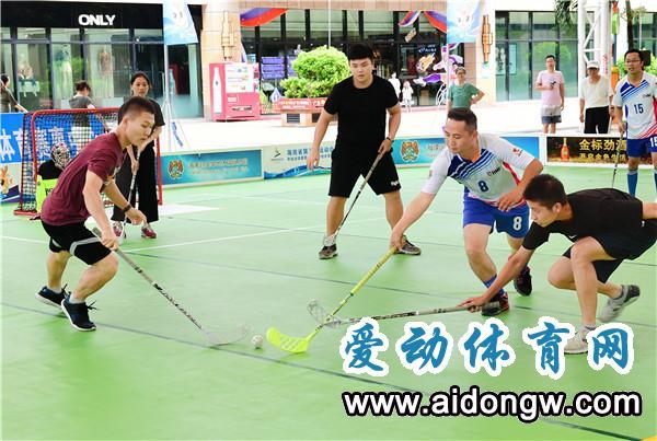 海南省第五届运动会群众比赛旱地冰球赛开幕 共20支队伍参赛