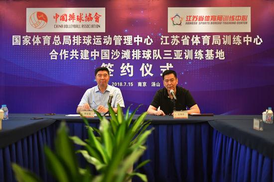 体育总局牵手江苏共建国家沙滩排球队三亚训练基地