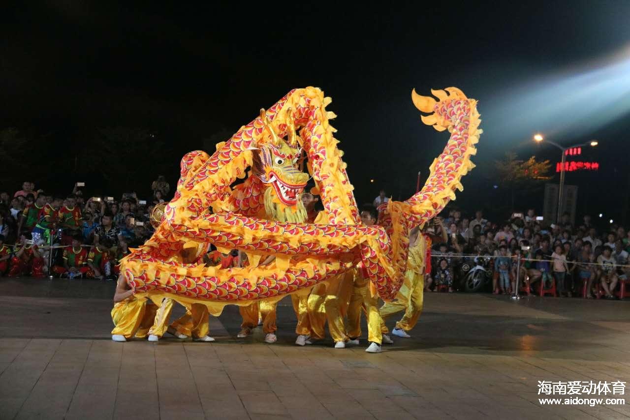 全国大学生舞龙舞狮锦标赛落幕  琼台师范龙狮队夺亚军