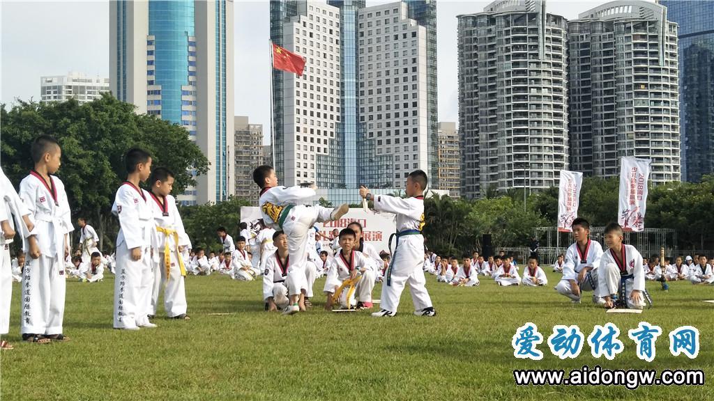 2018海口少儿跆拳道展演在万绿园隆重举行
