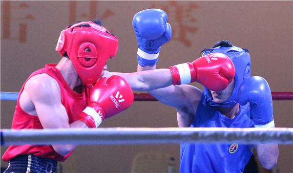 海南省第五届省运会拳击比赛三亚开打  74名拳手争夺28个级别冠军