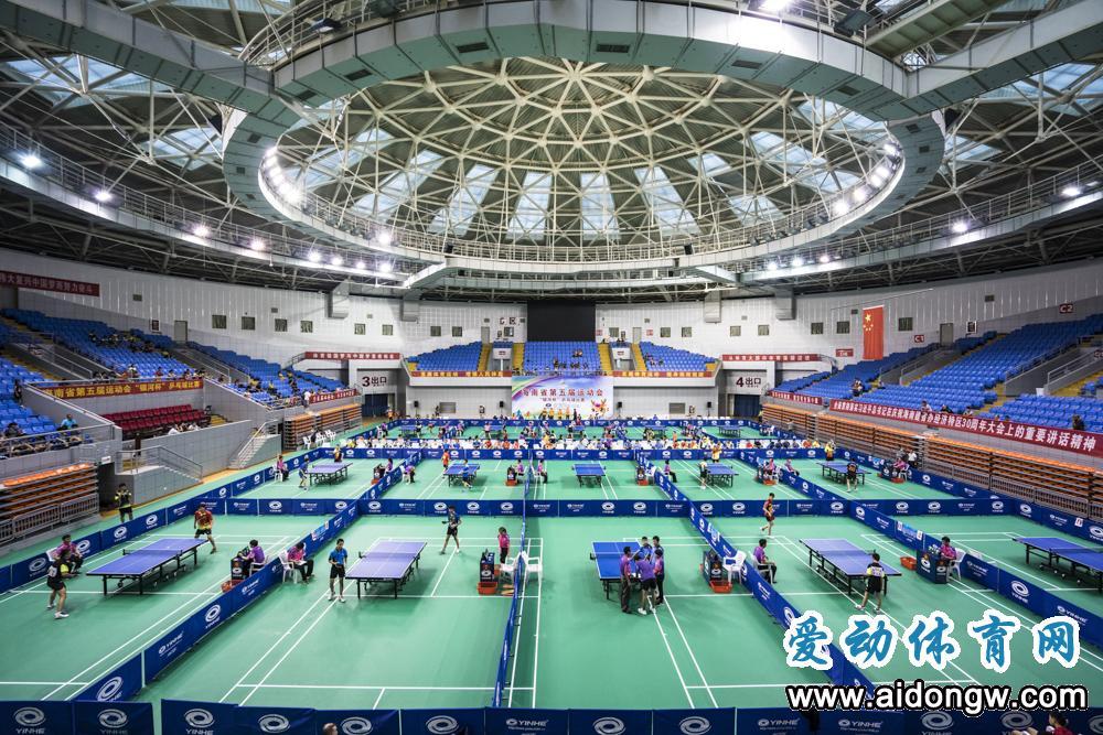 【图集】海南省第五届运动会竞体项目乒乓球三亚挥拍