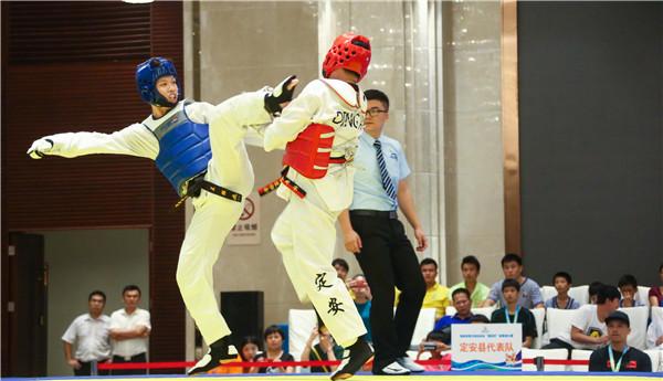省运会跆拳道比赛三亚开打  首日产生9枚金牌