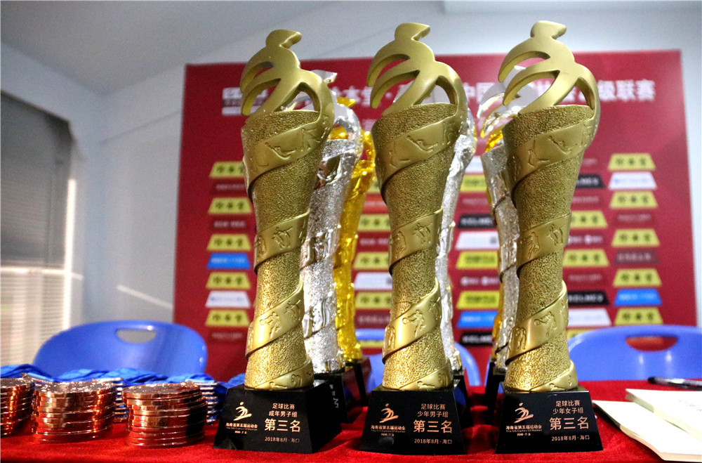 海南省第五届运动会足球赛海口收官 前卫体协、海口、琼中分获各组别冠军