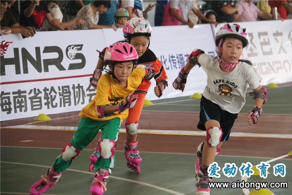 """2018海南省青少年轮滑精英赛火热开战 """"萌娃""""演绎速度与激情"""