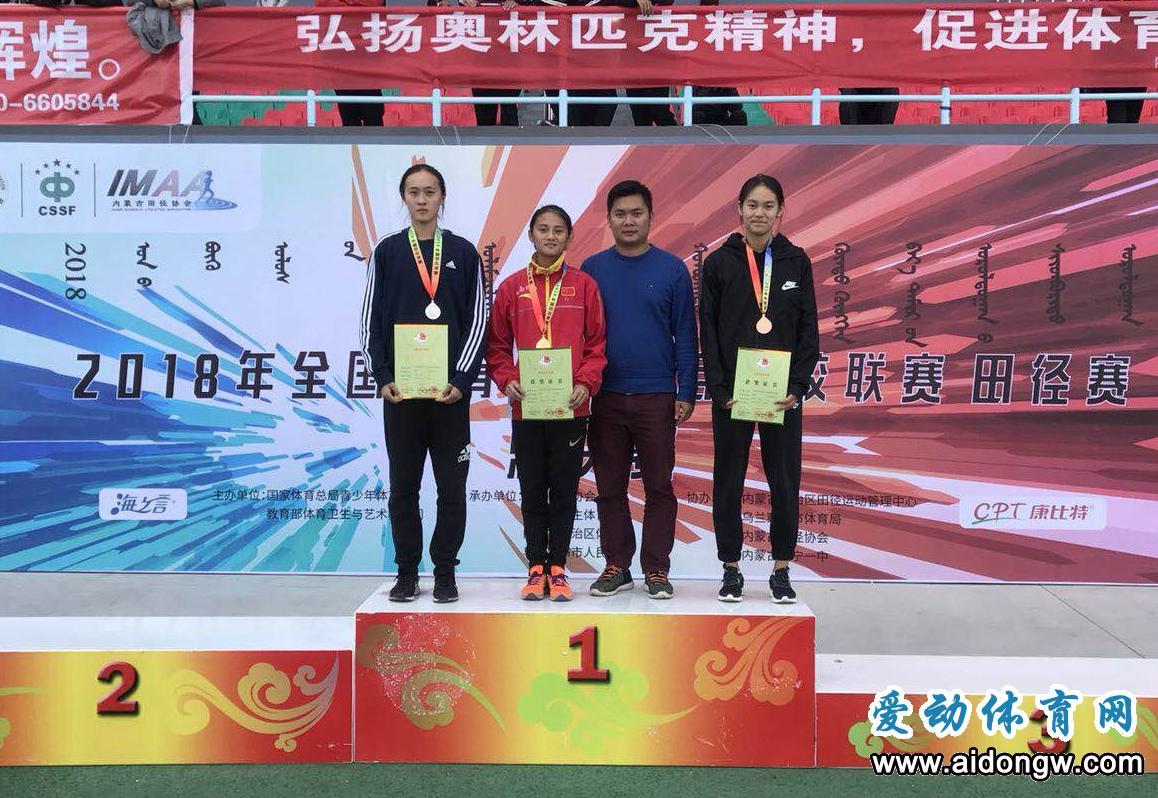 全国体育传统项目学校联赛田径赛总决赛 海南小将黄小雪夺女子乙组100米栏冠军