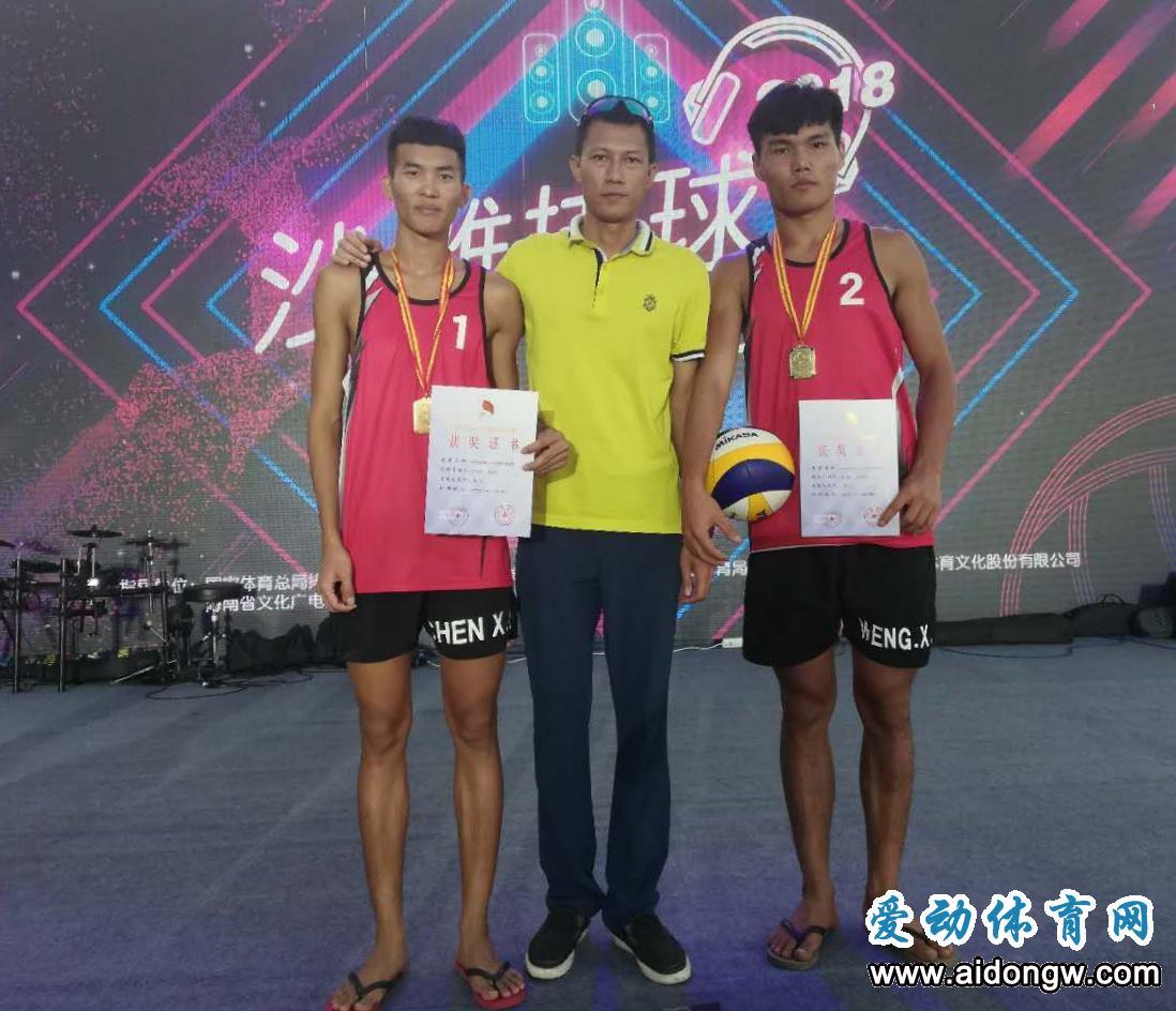 海南队翁先武/陈秀峰获全国青年U21沙滩排球锦标赛冠军