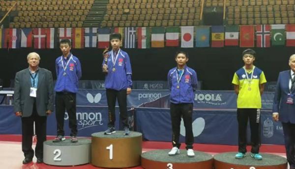 国际乒联匈牙利青少年公开赛落幕 海南小将林诗栋收获1金1铜