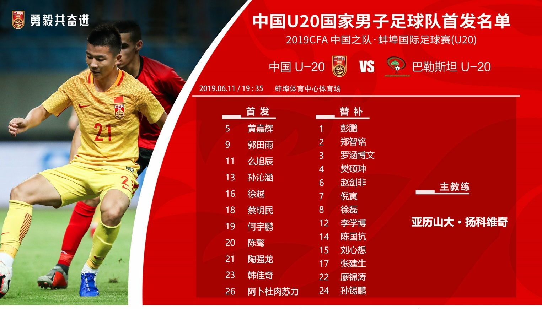 国青U20热身赛3天2场首发!海南小将蔡明民表现获认可