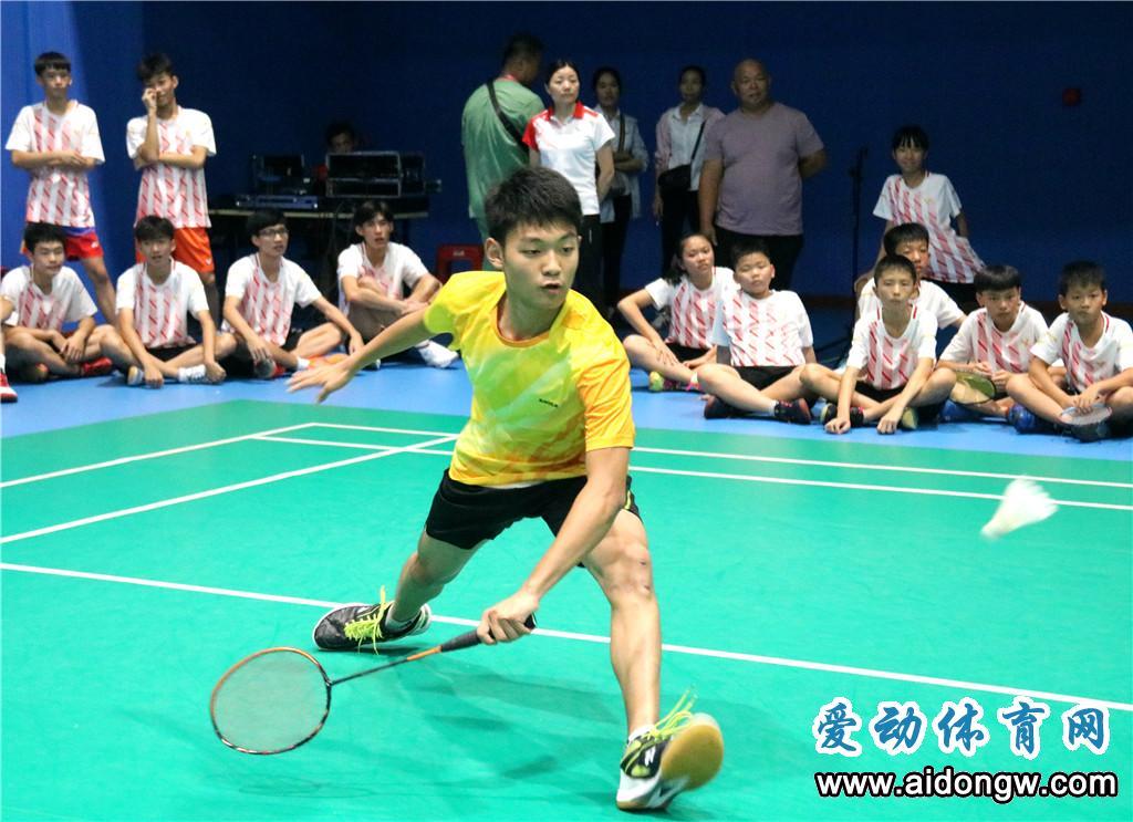 海南省少年羽毛球锦标赛开赛 近300名羽球小将激战白沙