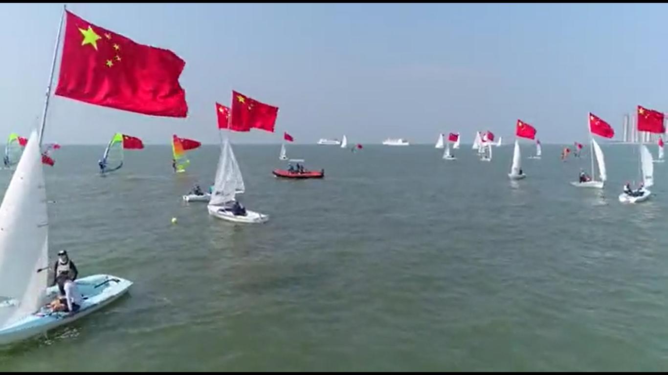海口扬帆起航向新中国成立70周年献礼