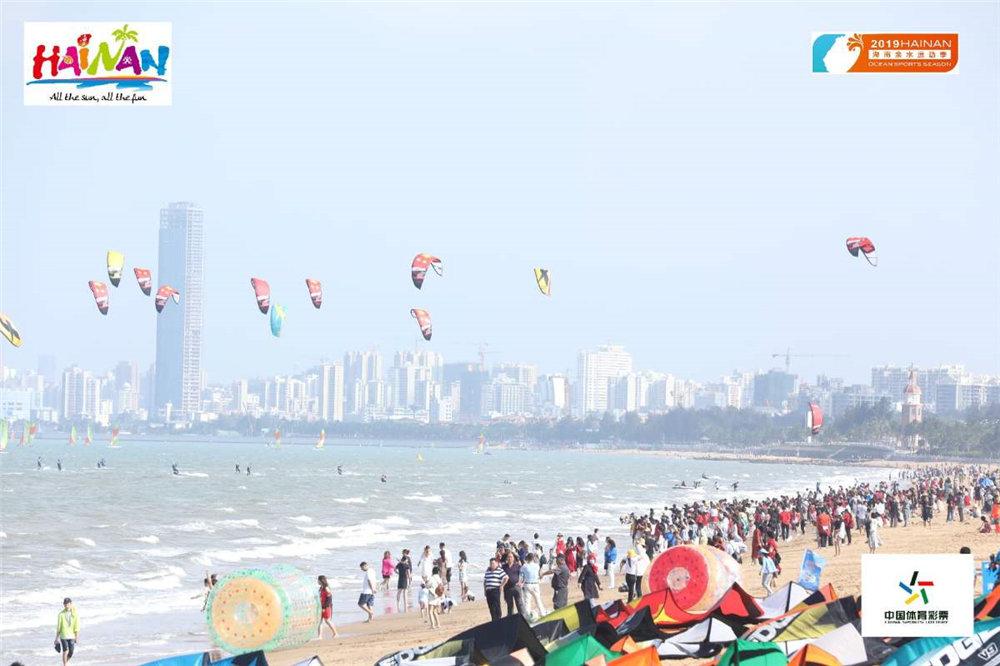 2019海南亲水运动季风筝冲浪邀请赛海口开赛