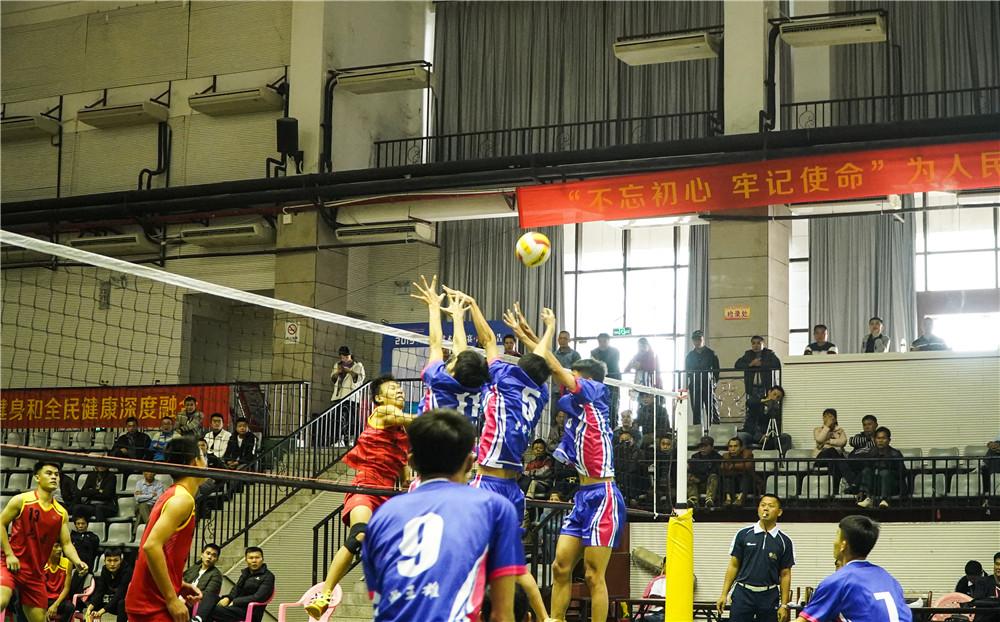 2019年海南省农民男子九人排球赛屯昌开打 海口队取开门红