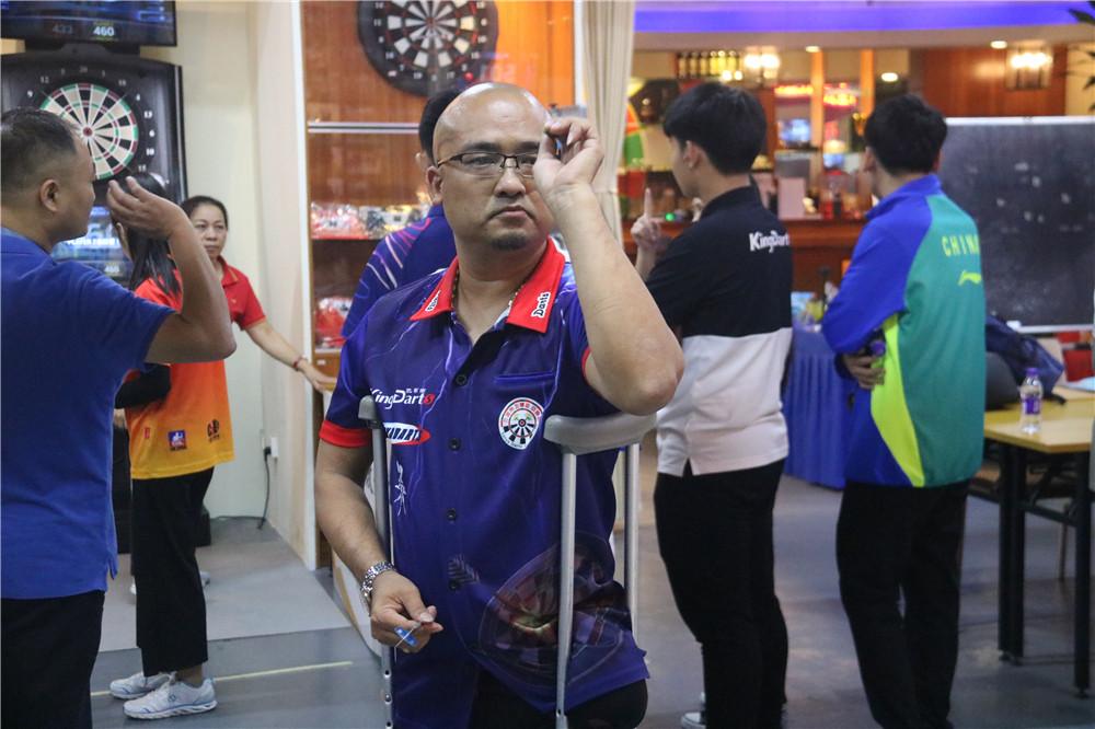 2019年海南省全民健身运动会飞镖赛开赛 吸引残奥、残运冠军参赛