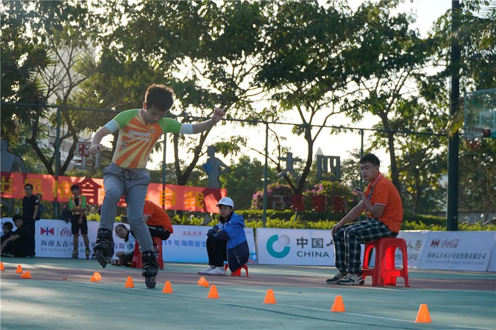 2019年海南省全民健身运动会轮滑比赛收官