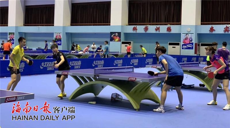 马龙、樊振东、刘诗雯等国球好手集结海南体职院!国家乒乓球队首次抵达海南冬训